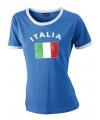 Shirts met vlag van Italie dames