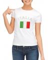T-shirt met vlag Italie print voor dames