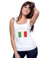 Mouwloos shirt met vlag Itali� print voor dames