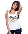 Top met vlaggen thema Italie dames