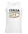 Top met vlaggen thema Italie heren